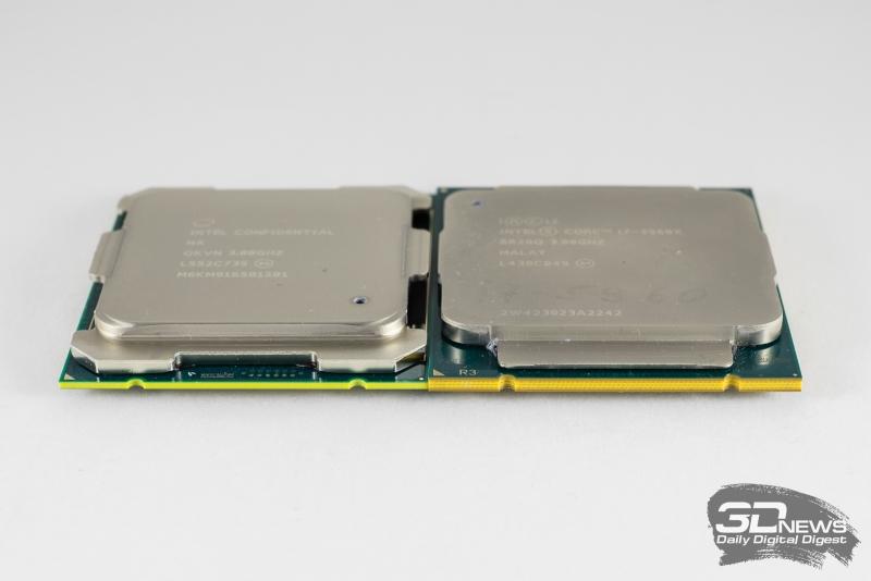 Слева – Core i7-6950X, справа – Core i7-5960X