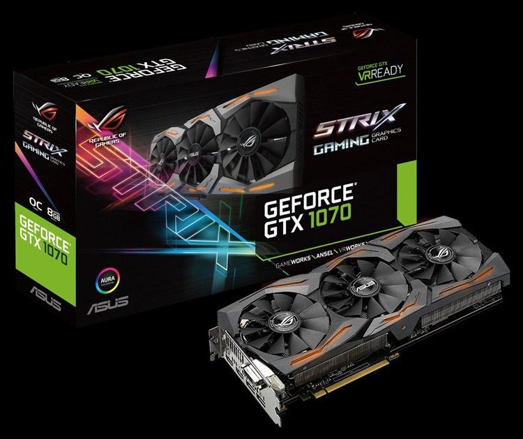 Видеокарта ASUS ROG Strix-GTX1070-O8G-Gaming