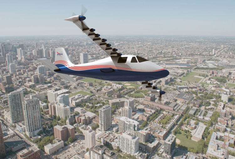 """NASA начнёт тестирование лёгкого самолёта с 14 электромоторами"""""""