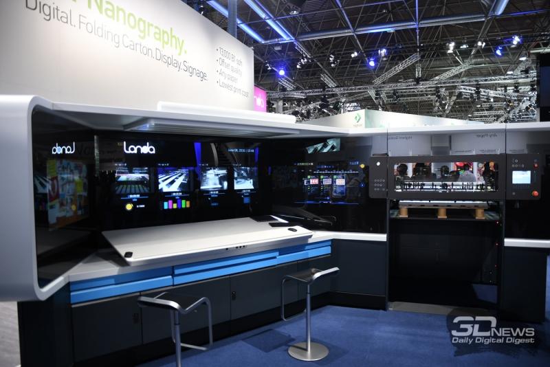 Панель управления одной из печатных машин
