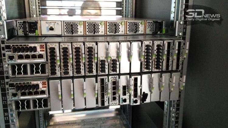 Один из вариантов размещения, используются, в основном, порты MPO IB 12x