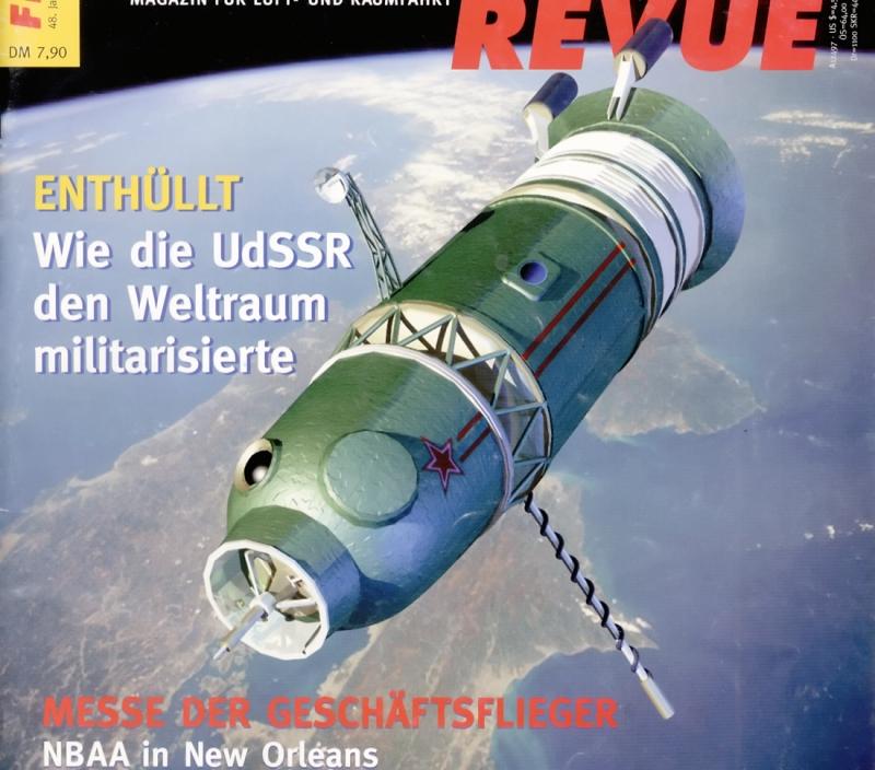 Облик военно-исследовательского корабля 7К-ВИ с точки зрения художника журнала Flieger Revue