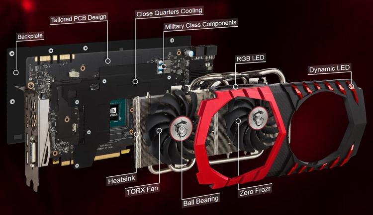 Видеокарта MSI GeForce GTX 1080 Gaming Z 8G