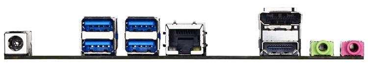 Материнская плата Gigabyte GA-H110TN-M - задняя панель