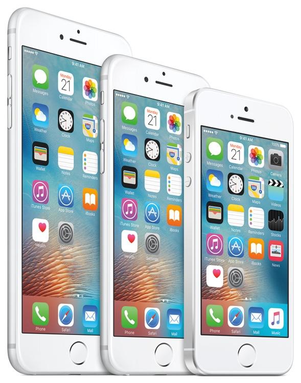 Семейство смартфонов Apple iPhone: 6s Plus, 6s и SE