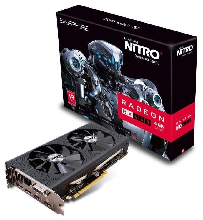Видеокарта Sapphire Nitro+ Radeon RX 480 4G GDDR5