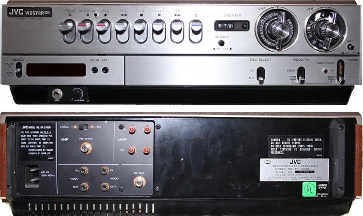 Первый видеомагнитофон «JVC HR-3300» формата VHS, представленный 7 сентября 1976 года