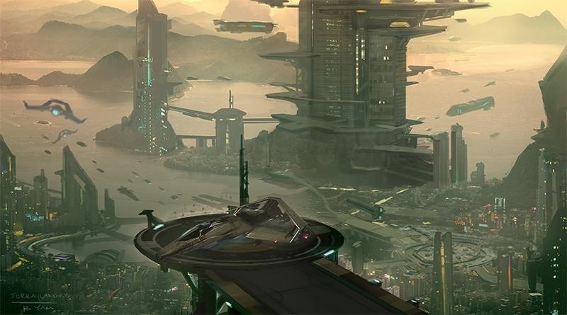 """Энтузиаст реконструировал 3D-модель огромного города по файлам Star Citizen"""""""