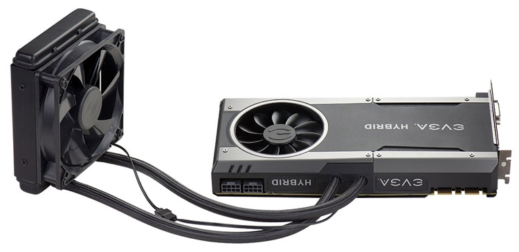 Видеокарта EVGA GeForce GTX 1070 FTW Hybrid Gaming