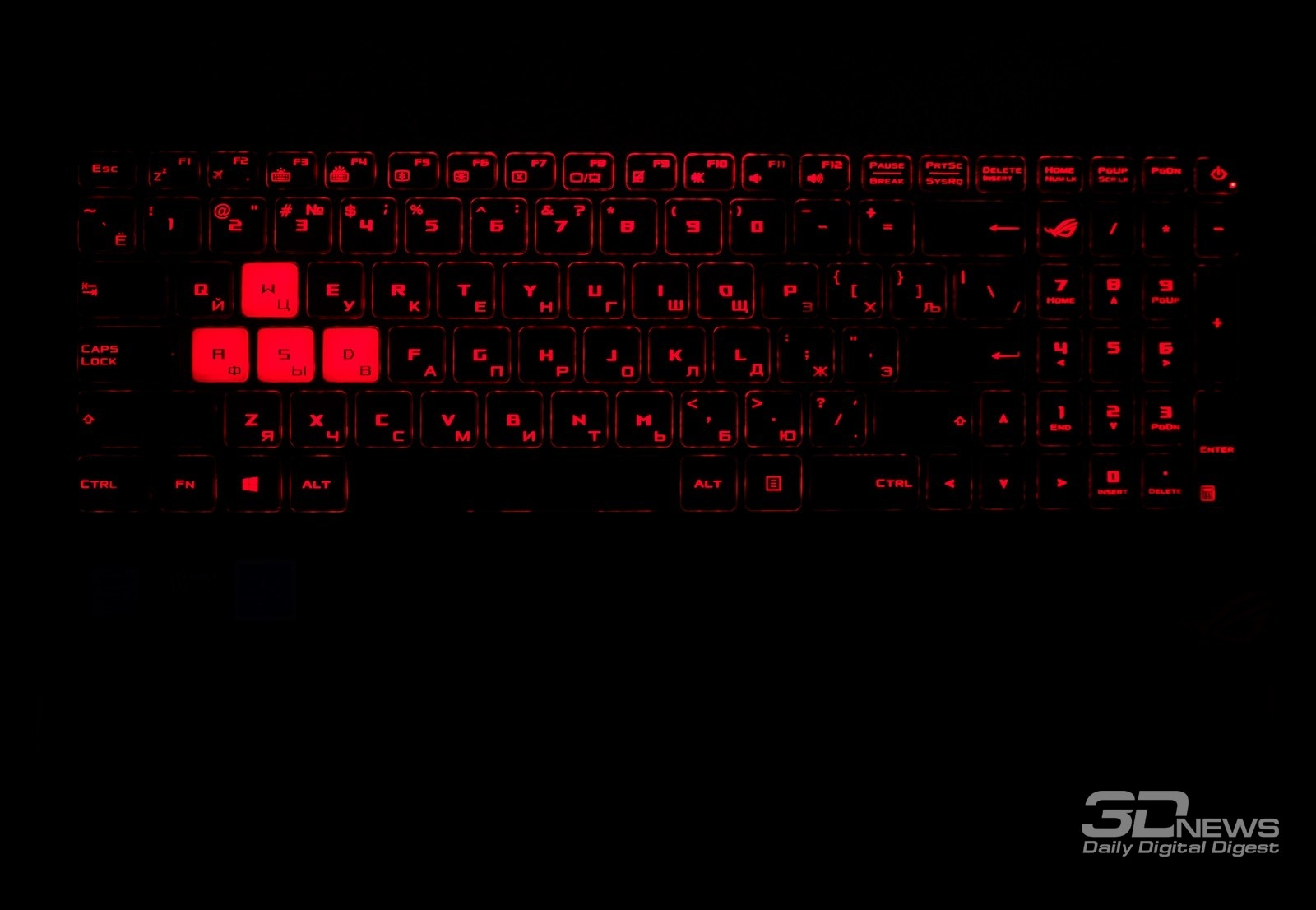Overview of the gaming laptop asus rog strix gl502vt light gaming the color of the buttons is black the surface of the keys is matte all letters and symbols are bright orange but there are exceptions the four main keys buycottarizona Image collections