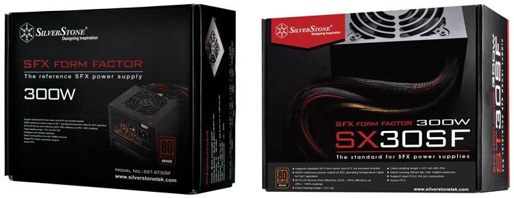 SilverStone ST30SF V1.0 и V2.0 (справа)