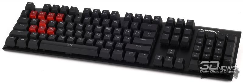 Клавиатура с заменённым рядом игровых клавиш