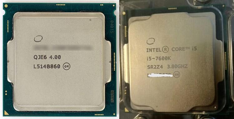 Семплы Core i7-6700K и Core i5-7600K (справа)