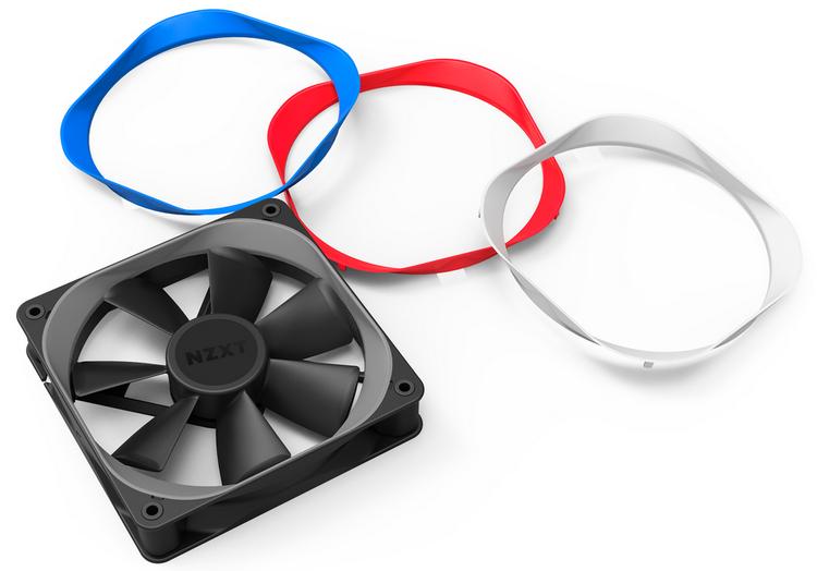 Вентилятор NZXT Aer P с дополнительными цветными рамками