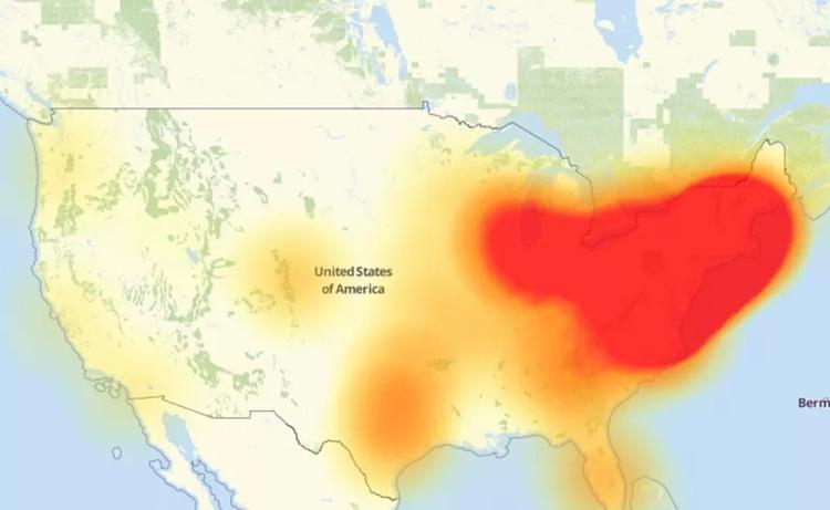 Кибератака оставила половину американцев без Интернета