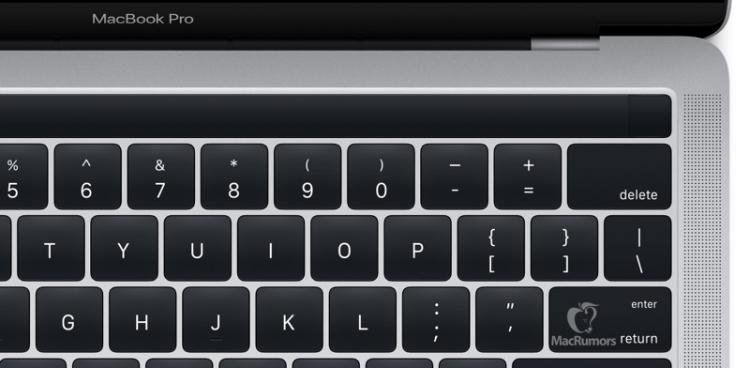 Официальные изображения нового MacBook Pro подтвердили OLED-панель Magic Toolbar на клавиатуре