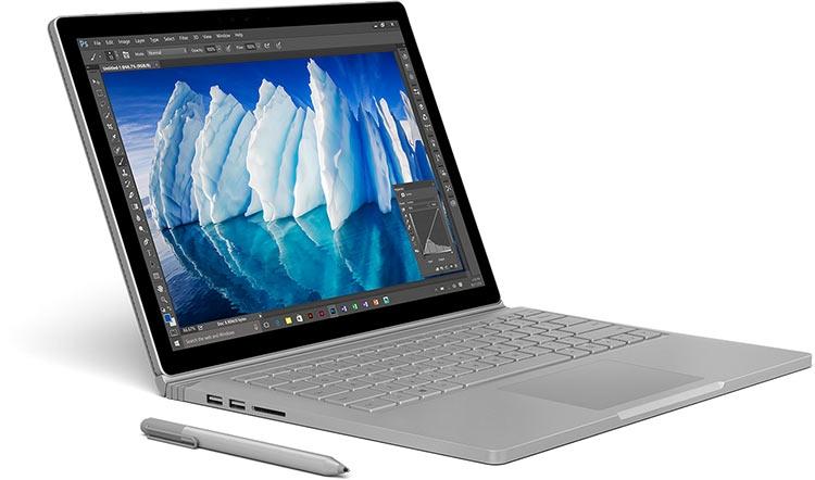 Microsoft представила обновлённый Surface Book i7 с 16 часами автономной работы