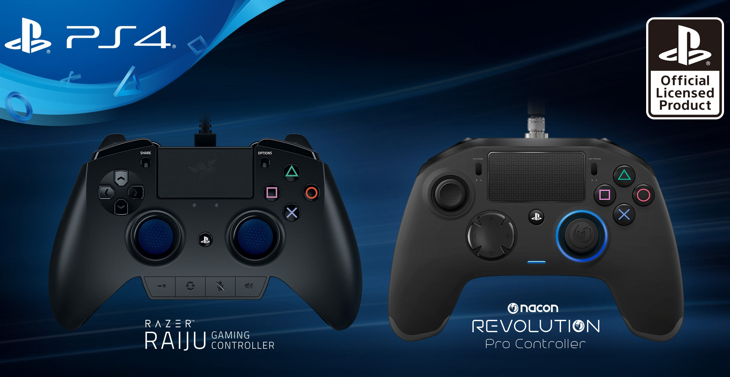 Sony представила сторонние контроллеры для PS4 от Razer и Nacon