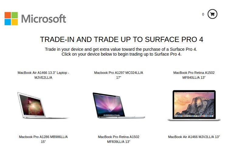 Microsoft заплатит за переход с MacBook на Surface