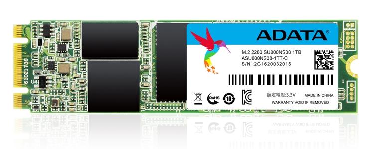 ADATA Ultimate SU800 M.2 2280: TLC-накопители ёмкостью до 1 Тбайт