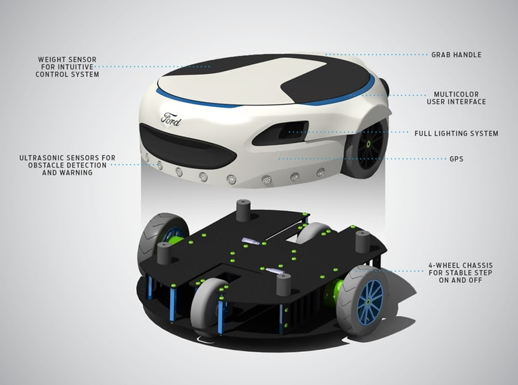 Ford Carr-E: необычный электросамокат для преодоления «последней мили»