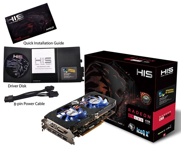 HIS расширила ассортимент видеокарт Radeon RX 480