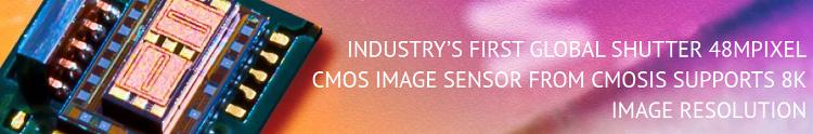 CMOSIS выпустила первый 48-Мп КМОП-сенсор с глобальным затвором