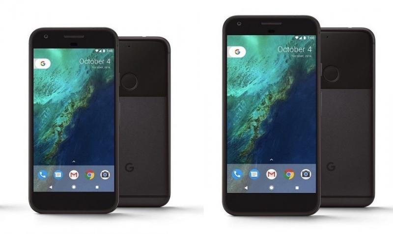Google Pixel и Pixel XL бок о бок. Официальное фото