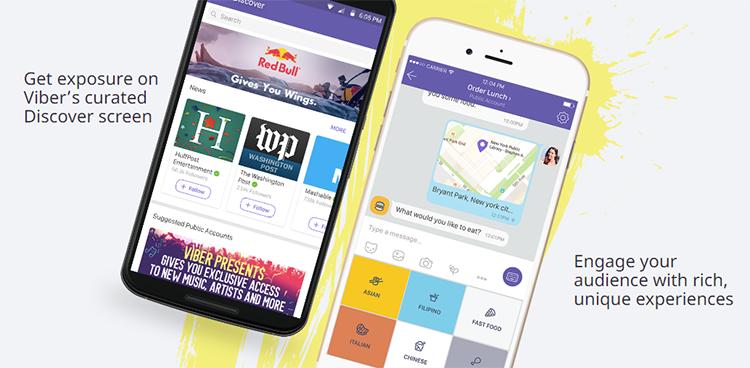 В Viber появились публичные бизнес-аккаунты