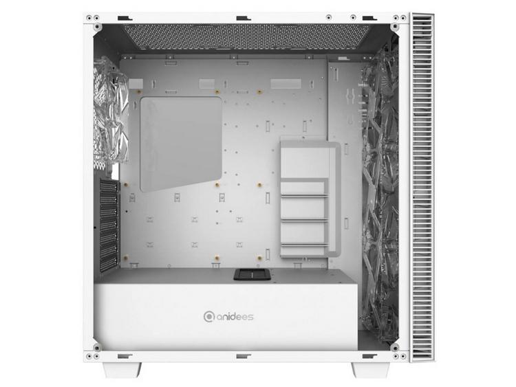 Корпус Anidees AI Crystal White использует закалённое стекло и белую подсветку