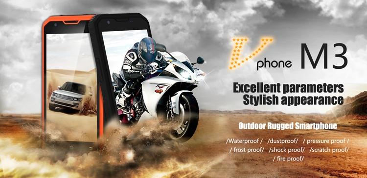 Из огня да в полымя: защищённый смартфон Vphone M3 с мощной батареей