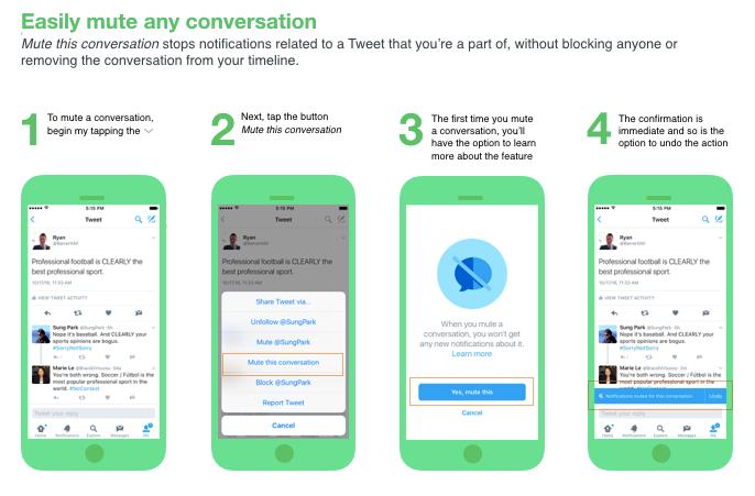 В Twitter добавили блокировку уведомлений по ключевым словам