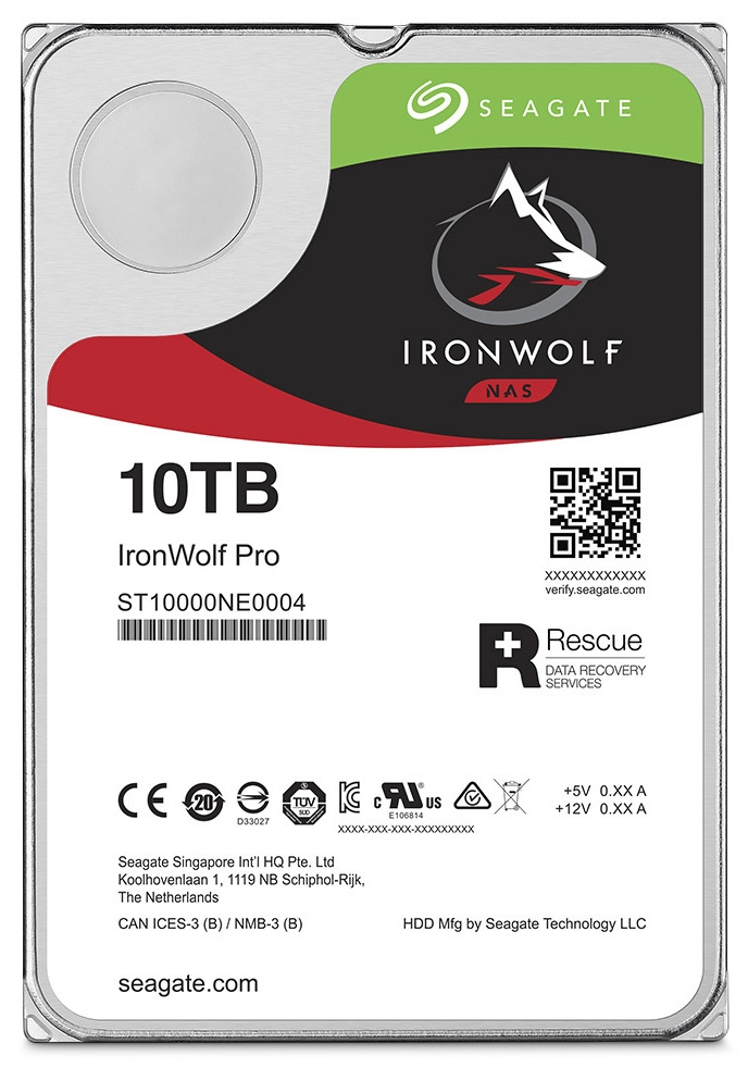 10-Тбайт HDD Seagate IronWolf Pro