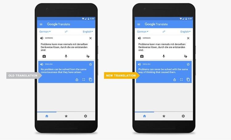 Google Translate перешёл на нейронные технологии
