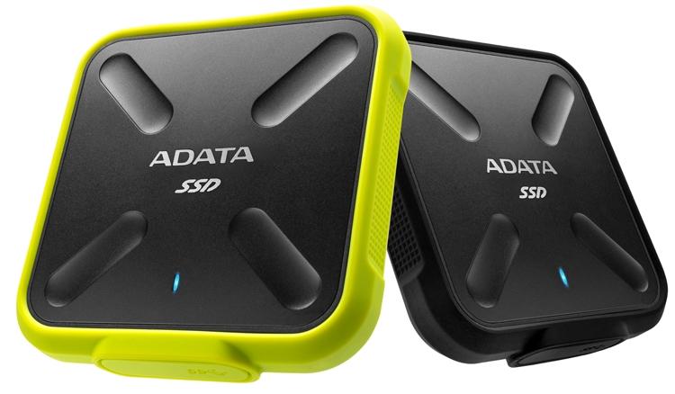 «Внедорожный» SSD-накопитель ADATA SD700 вмещает до 1 Тбайт данных