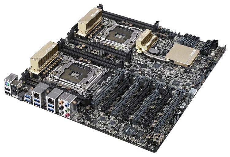 Плата ASUS Z10PE-D8 WS форм-фактора EEB для 2P-систем использует чипсет Intel C612