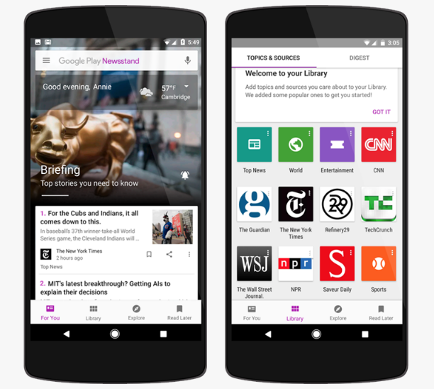 Приложение для чтения новостей от Google стало «умнее»