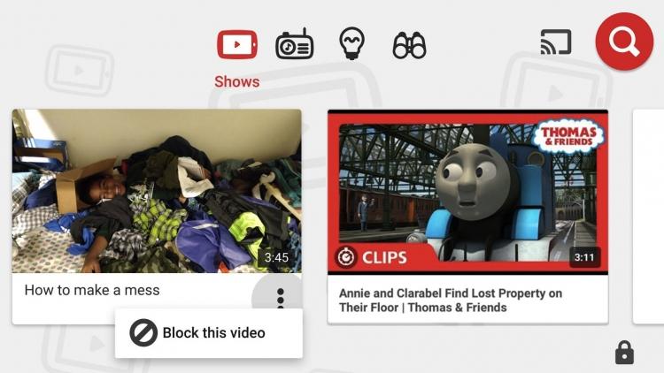 В YouTube Kids появилась функция ручной блокировки отдельных каналов и видеороликов