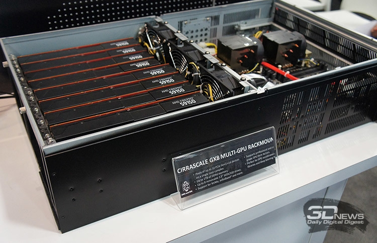 Сервер Cirrascale GX8 с AMD FirePro S9150