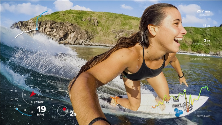 На видео с GoPro теперь можно накладывать данные со встроенных сенсоров