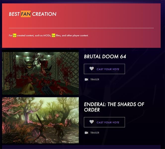 Две фанатские игры исключили из номинантов на The Game Awards 2016
