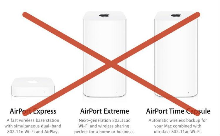 Apple прекратила разработку Wi-Fi-роутеров AirPort