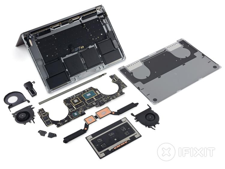 """MacBook Pro 15"""" с панелью Touch Bar признан совершенно неремонтопригодным"""