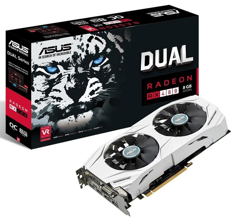 ASUS выпустила новые модели Radeon RX 480 8GB