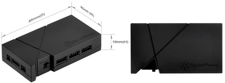 Контроллер подсветки SilverStone LSB01 способен управлять восемью диодными лентами