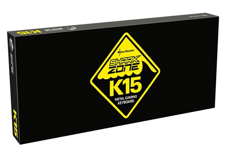 Игровая клавиатура Sharkoon Shark Zone K15 выполнена в металлическом корпусе