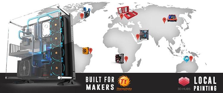 3D-печать без границ: Thermaltake объявила о сотрудничестве с сервисом 3D Hubs