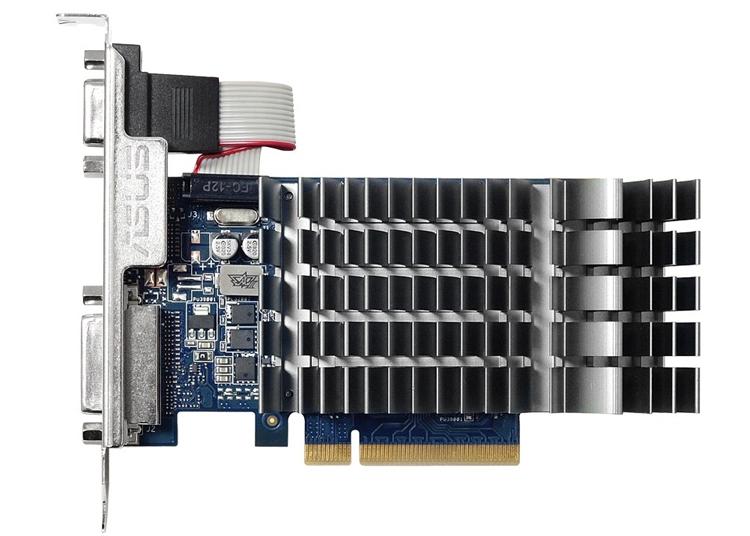 Недорогая видеокарта ASUS GeForce GT 710-2-SL не производит шума при работе