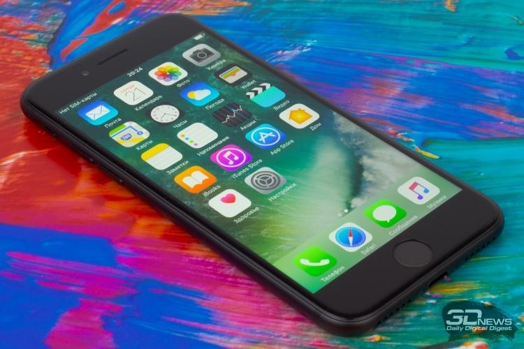iPhone 7 и iPhone 7 Plus заняли 3,7 % продаж смартфонов в России