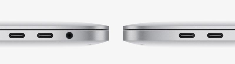 Это весь набор портов, которые предлагает MacBook Pro 2016